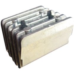 angle view of Martyr Volvo Penta DPX Series Anode - Aluminum