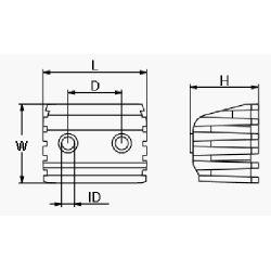 diagram of Martyr Volvo Penta DPX Series Anode - Aluminum