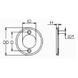 diagram of Martyr Volvo Penta Medium Ring Anode - Aluminum