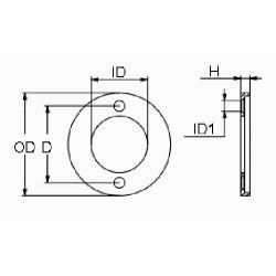 diagram of Martyr Volvo Penta Small Ring Anode - Aluminum
