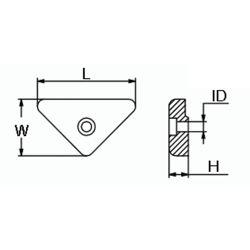 diagram of Martyr Volvo Penta Triangle Anode - Aluminum
