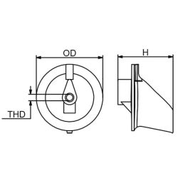 Dimensions of Martyr Yamaha Trim Fin Anode - Zinc
