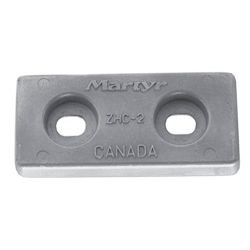 "front view of Martyr ZHC2 Taiwan Style 5-3/4"" Plate Anode - Aluminum"