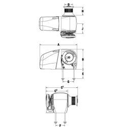 HRC10-8 & 10-10 Horizontal Windlass - Rope/Chain