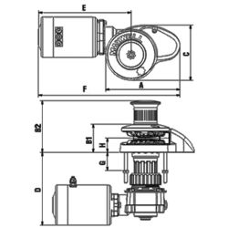 Diagram of Maxwell RC8-8 Rope & Chain Vertical Windlass