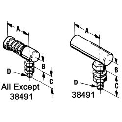 diagram of Morse Controls Ball Joints - for 60 Series Engine Control Cables