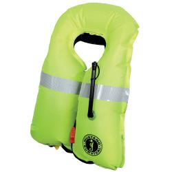 Inflated View of Mustang Survival HIT Automatic Inflatable PFD with Sailing Harness
