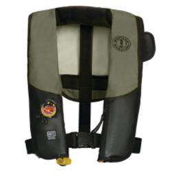 Olive and Black Version of Mustang Survival HIT Auto Inflatable Law Enforcement PFD