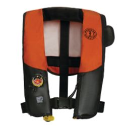 Orange and Black Version of Mustang Survival HIT Auto Inflatable Law Enforcement PFD
