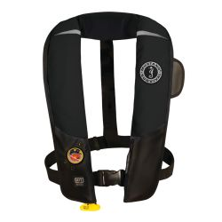 Black Version of Mustang Survival HIT Automatic Inflatable PFD - Hydrostatic Inflator Technology