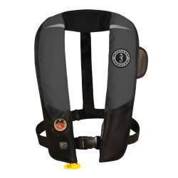 Gray and Black Version of Mustang Survival HIT Automatic Inflatable PFD - Hydrostatic Inflator Technology