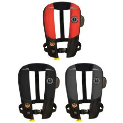 Group View of Mustang Survival HIT Automatic Inflatable PFD - Hydrostatic Inflator Technology