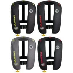 Color Options of Mustang Survival MIT 100 Auto Inflatable PFD