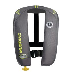 Gray and Yellow Green Version of Mustang Survival MIT 100 Auto Inflatable PFD