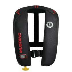 Black and Red Version of Mustang Survival MIT 100 Manual Inflatable PFD