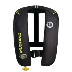 Black and Yellow Green Version of Mustang Survival MIT 100 Manual Inflatable PFD