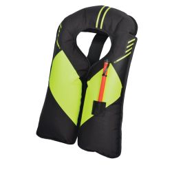 Inflated View  of Mustang Survival MIT 100 Manual Inflatable PFD