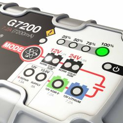 NOCO Genius G7200 Multipurpose Battery Charger & Maintainer - 12/24V 7.2A Output