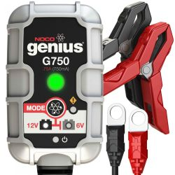 Front View of Noco Genius G750 UltraSafe Battery Charger and Maintainer