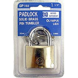 Package View of Olympus Lock Mountain Series - Brass Padlocks