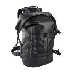 black of Patagonia Stormfront Roll Top Pack