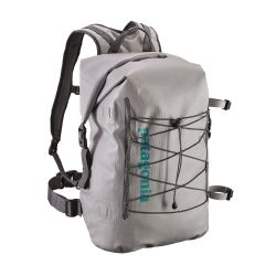 grey of Patagonia Stormfront Roll Top Pack