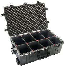 showing optional padded dividers of Pelican Pelican 1650 Case with Wheels - 5,400 Cu In