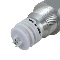 close up 1 of Perko Fuel Inlet Check Valve - NPTF Threaded, 45 Degree Hose Port, EPA Compliant
