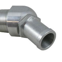 close up 2 of Perko Fuel Inlet Check Valve - NPTF Threaded, 45 Degree Hose Port, EPA Compliant