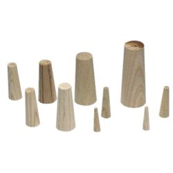 Wooden Plugs - Set of 9