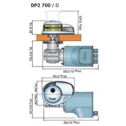 Dimensions of Quick Windlass Quick Prince DP2 Vertical Windlass