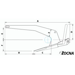 Dimensions of Rocna Anchors Rocna Anchor - Galvanized Steel