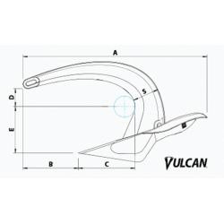 Dimensions of Rocna Anchors Vulcan Anchor - Stainless Steel
