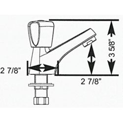 Dimensions of Scandvik Classic Cold Water Tap