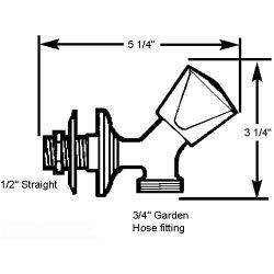 Washdown Faucet - Triangular Knob