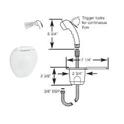 White Recessed Transom Shower - 6'