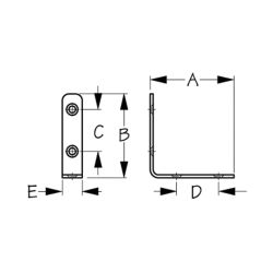 diagram of Sea-Dog Line 90 Degree Angle Bracket