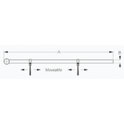 Dimensions of Sea-Dog Line Adjustable Flag Pole Clamps