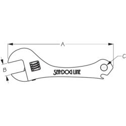 Dimensions of Sea-Dog Line Adjustable Wrench