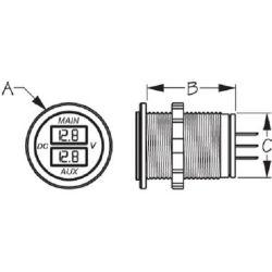 Dual Round Voltmeter