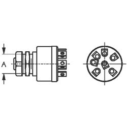 Four Position Ignition Switch - Magneto Style