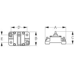 Hi Amp Surface Mount Resettable Circuit Breaker