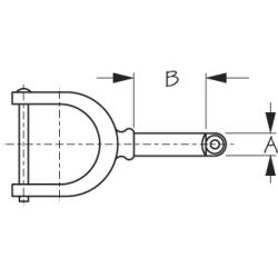 Dimensions of Sea-Dog Line Oarlock and Socket