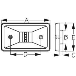 LED Transom Light - Rectangular