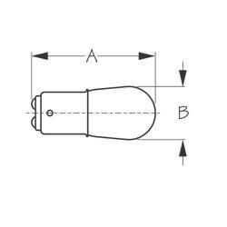 Sea-Dog Line No. 1076 Double Contact Bayonet Base bulb - 12V, 23W, 32 CP