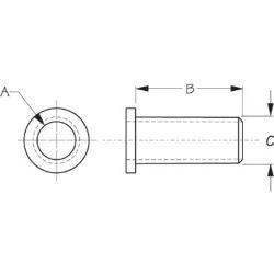 diagram of Sea-Dog Line Oarlock Bushing