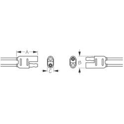 Polarized Connector 2 Wire - Plug & Socket