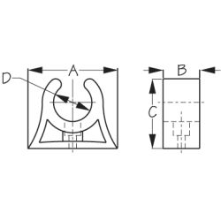 Pole Storage Clip