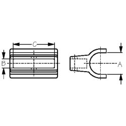 Rail Mount Bow Socket