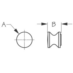 Dimensions of Sea-Dog Line Rim Latch Knob